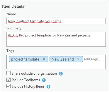 create a project template arcgis pro arcgis desktop