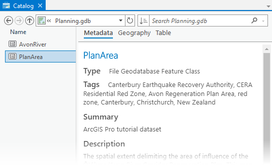 Manage data—ArcGIS Pro | ArcGIS Desktop