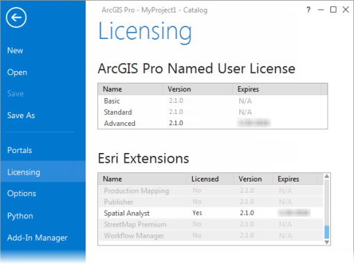 Enabling the Spatial Analyst extension—ArcGIS Pro | ArcGIS