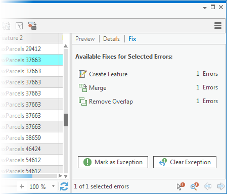 Validate and fix geodatabase topology—ArcGIS Pro | ArcGIS Desktop