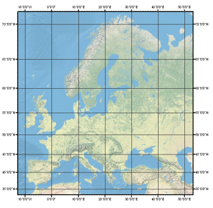 Carte Europe Latitude Longitude.Grids And Graticules Layouts Arcgis Desktop