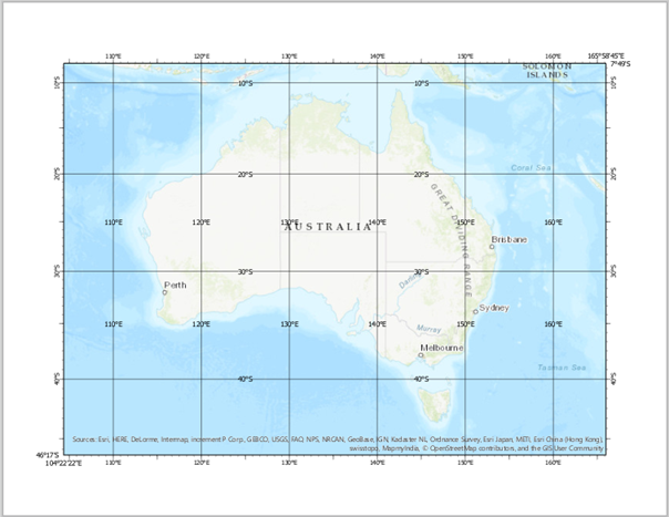 Work With A Gridlayouts Arcgis Desktop - Us-map-with-coordinate-grid