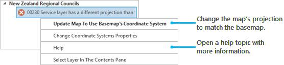 Analyzer message context menu
