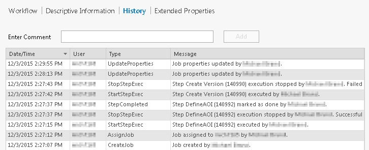Job view—Workflow Manager | ArcGIS Desktop