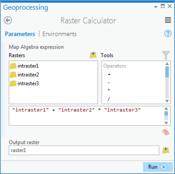 Raster Calculator—Help | ArcGIS Desktop